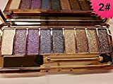 Image of Mf Cosmetic 9 Colors Diamond Bright Colorful Makeup Eye Shadow Set Flash Glitter Eyeshadow Palette with Brush,Edition 6