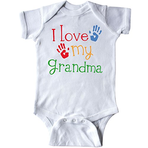 I Love My Grandma Onesies (Inktastic - I Love My Grandma Infant Creeper 6 Months White)