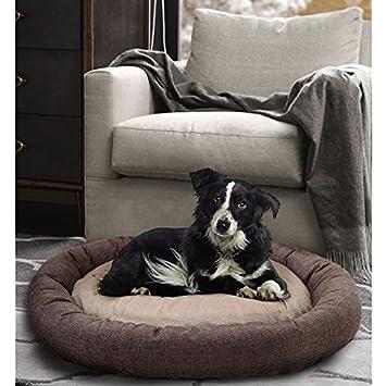 WANGADO cama redondo Basic camas para perros y gatos con juguete de piel sintética y textil