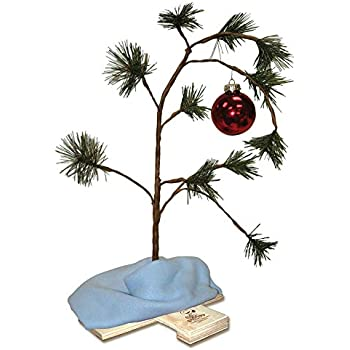 ProductWorks 24-Inch Peanuts Charlie Brown Musical Christmas Tree with  Linus Blanket