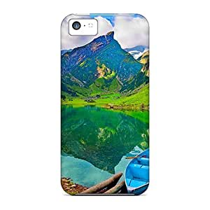 Awesome Cases Covers/iphone 5c Defender Cases Covers(lonely Boat In Mountain Lake) wangjiang maoyi