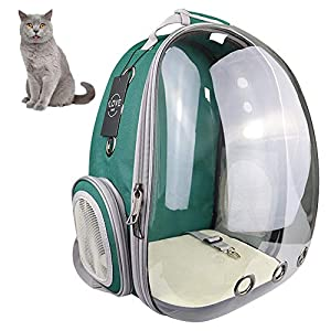 iLOVE Pet Carrier Backpack for Cat and Small Dog, Portable Transparent Pet Backpack, Waterproof Clear Space Capsule…