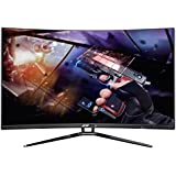 Sceptre C328B-144KN Curved Gaming FHD LED Monitor AMD FreeSync 144Hz, 1800R Curvature, Metallic edge to edge (2017)