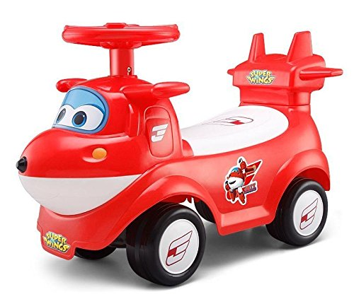 Super Wings Jett Foot to Floor Ride on Airplane Style Car with Music Function
