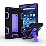 microwave hybrid - Amazon Fire HD 8 2016 Case, Jeccy 3in1 Full-body Shock Proof Hybrid Heavy Duty Armor Defender Protective Case,Silicone Skin Hard Plastic Case for Fire HD 8 Tablet (6th Gen, 2016 Release Only)