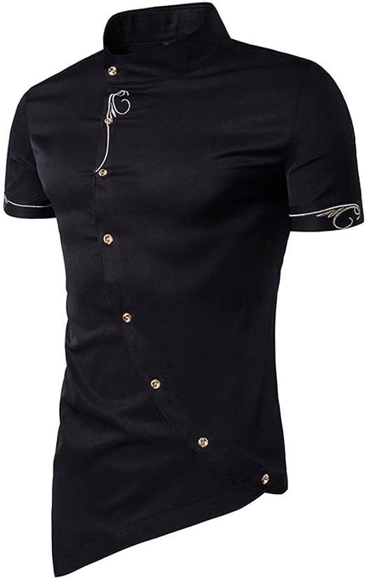 Allywit Men T-Shirt,Men Casual Stripe Pullover Fashion Sport T-Shirt Top V-Neck