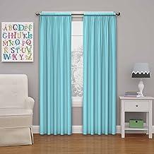 "Eclipse Kids Microfiber Blackout Window Curtain Panel, 84"", Pool"