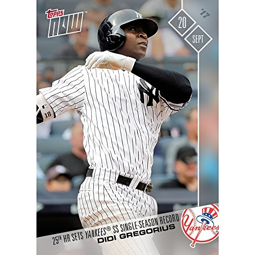 DIDI GREGORIUS 25th HR SETS YANKEE SS RECORD TOPPS NOW 2017 CARD 629 & TOPLOADER