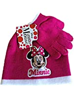 Disney Minnie Mouse Pink Knit Cap and Glove Set