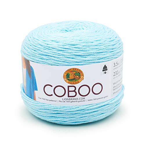 - Lion Brand Yarn 835-106 Coboo Yarn, Ice Blue