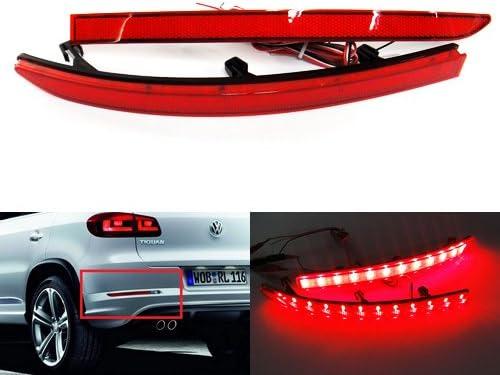 Reflektor Für Hintere Stoßstange Led Nebelschlussleuchte Bremslicht Drl Für 2007 17 Volks Tiguan 5n Auto