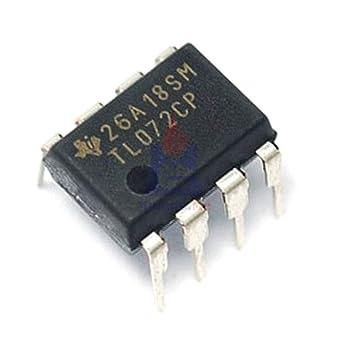 Amazon.com: 50 chips IC TL072CP TL072 DIP-8 de bajo ruido J ...