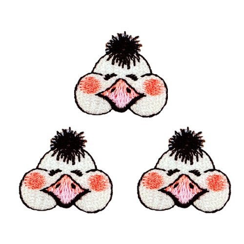 Expo Iron-on Embroidered Applique Patches, BaZooples Ollie Ostrich Head, 3-Pack by Expo   B003VS7S5S