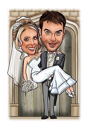 Swept Off Her Feet Bride Groom Wedding Caricature Gift Amazonco