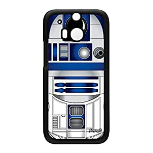R2D2 2 Black Hard Plastic Case Snap-On Protective Back Cover for HTC? One M8 by Gangtoyz + FREE Crystal Clear Screen Protector
