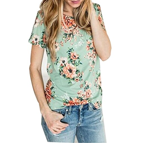 VOKY Sleeve Floral T shirt Blouse