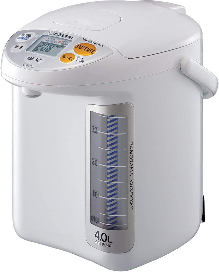 Zojirushi CD-LFC50 Micom Water Boiler and Warmer, 169 oz/5.0 L, White