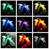 Joylive Fiber Optic Flash Light Up LED Shoelaces Shoe Laces Glow Stick Strap Shoelaces