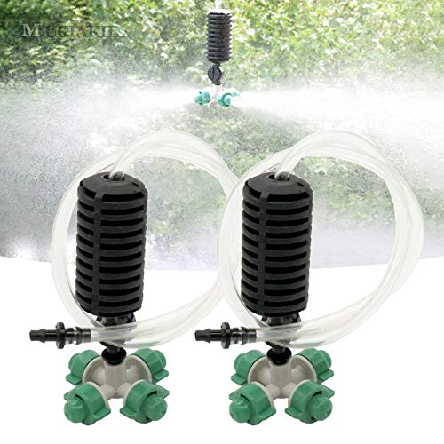 BIG-DEAL_5 Kits Garden Greenhouse Fogger's Hydro Cooling Humidifying Irrigation Kit System Watering Cross Misting Spinkler Nozzle Spray