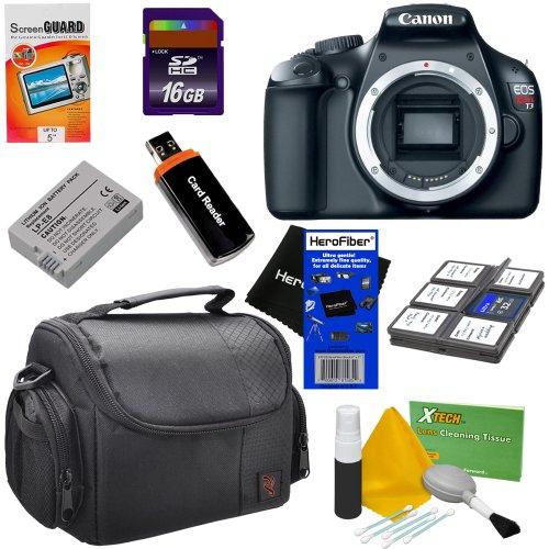 Canon EOS Rebel T3 12.2 MP CMOS Digital SLR Camera and DIGIC 4 Imaging (Body) + 8pc Bundle 16GB Accessory Kit w/ HeroFiber® Ultra Gentle Cleaning Cloth