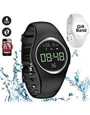 feifuns Kids Fitness Tracker,Without Smartphone,IP68 Water-Resistant,Non-Bluetooth,Pedometer Watch with Step/Distance/Calorie/Vibration Alarm Clock/Timer for Kid Children Teen Boys Girls Elderly