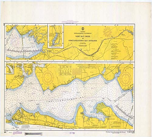 Vintography Gallery Wrap Art Canvas 18 x 24 Image of 1968 Nautical Chart West Bay Creek to Choctawhatchee Bay Entrance FL