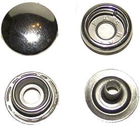 20 Sets Snap Press Stud Fasteners Marine Grade 316 Stainless Steel