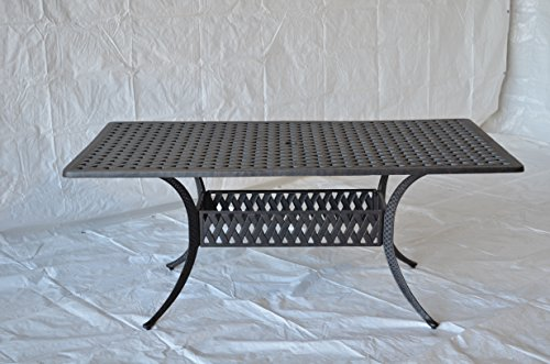 Nassau Outdoor Patio Rectangular Dining Table 42 X 72 Dark Bronze Cast Aluminum