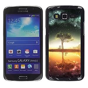 // PHONE CASE GIFT // Duro Estuche protector PC Cáscara Plástico Carcasa Funda Hard Protective Case for Samsung Galaxy Grand 2 / Galaxy Árbol /