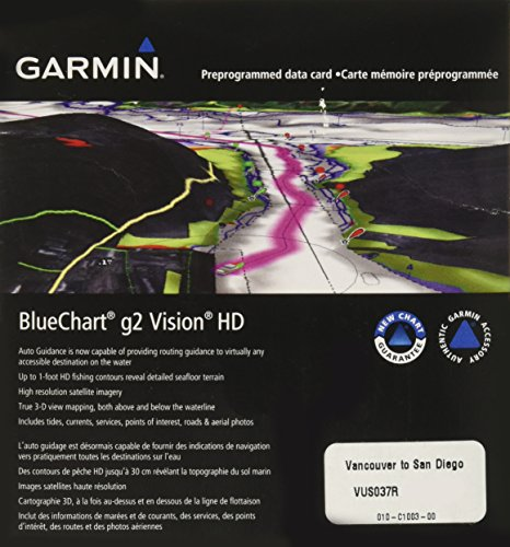 Garmin BlueChart g2 Vision Vancouver/San Diego Saltwater Map microSD Card