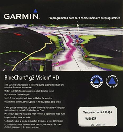 - Garmin BlueChart g2 Vision Vancouver/San Diego Saltwater Map microSD Card