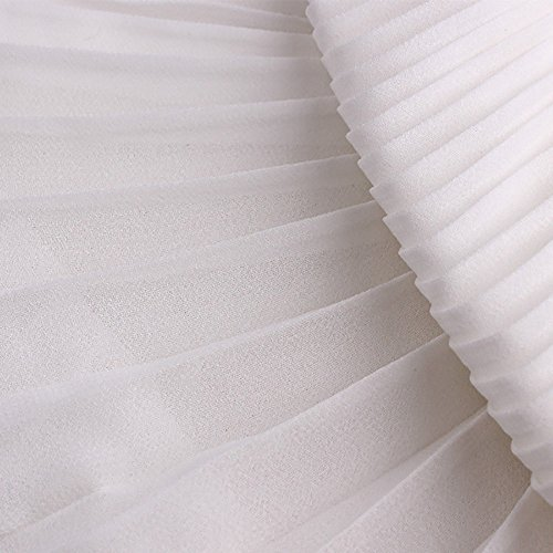 39 inch Pleated Chiffon Fabric Material Dress Skirt Cloth DIY Sewing Craft Solid