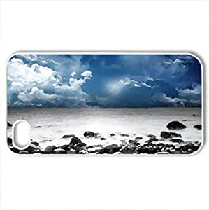 Beautiful Night - Case Cover for iPhone 4 and 4s (Beaches Series, Watercolor style, White)