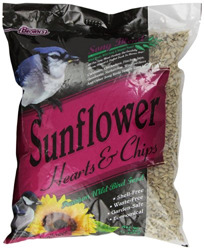 Sunflower Hearts Chips (F.M. Brown's Song Blend Sunflower Hearts and Chips for Pets, 3-Pound)