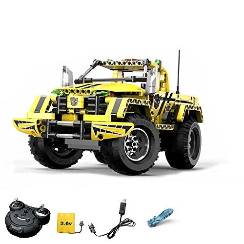 RC ferngesteuerter 2in1 Pickup Truck aus Bausteinen zum Selberbauen Basteln mit 2.4GHz Fernbedienung, Block Building Fahrzeug, Auto, Car, Komplett-Set Inkl. Akku und Ladegerät