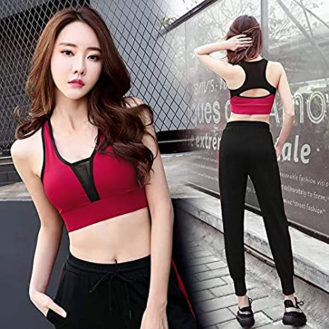 Sujetador deportivo para mujer con sujeción fuerte, tirantes grandes para fitness, correr, yoga, sin aros para entrenar, sujetador deportivo con sujeción ...