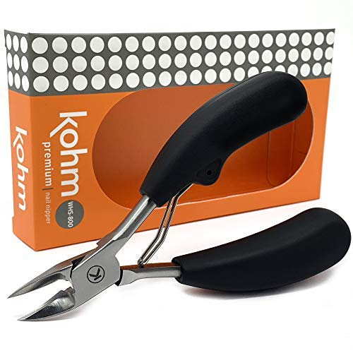 Kohm WHS-800 Nail Clipper for Thick or Ingrown Toenails, Easy Grip ()