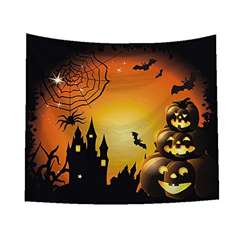 MOKO-PP Sugar Skull Tapestry Halloween Trick Treat Horror Ghost Wall Hanging Home Decor(C) -