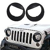 u-Box Matte Black Angry Bird Headlight Cover Bezels for 2007-2018 Jeep Wrangler Jk & JK Unlimited