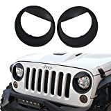 #3: u-Box Jeep Wrangler Headlight Cover Matte Black Angry Bird Bezels for 2007-2018 Jeep Wrangler Jk & JK Unlimited