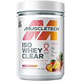 Whey Protein Powder | MuscleTech Clear Whey Protein Isolate | Whey Isolate Protein Powder for Women & Men | Clear Protein Drink | 22g of Protein, 90 Calories | Pink Tropical Punch, 1.1lb (19 Servings)