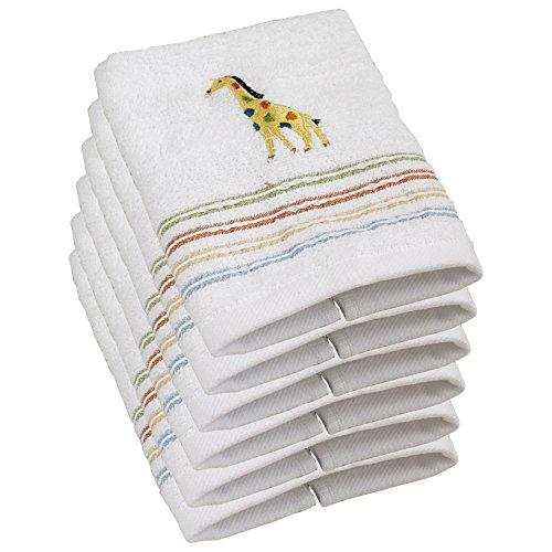 Saturday Knight Limited 100% Cotton Safari Giraffe Washcloth, Set of (Safari Washcloth)