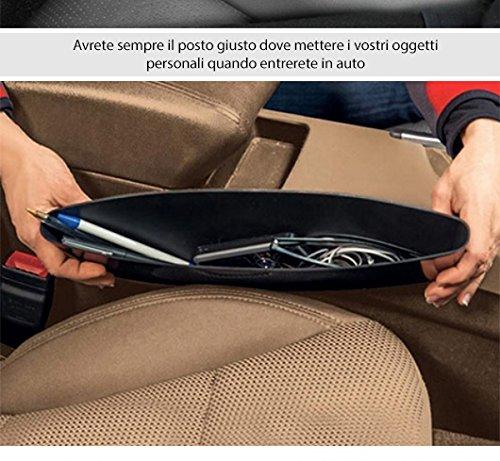Lscommerce/® 2X CONTENITORE ORGANIZER PORTAOGGETTI LATERALE PER SEDILI TASCHE DA VANO AUTO