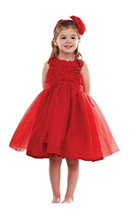 ef6f49558 Amazon.com  Mud Pie Bonaz Rosette Chiffon Mesh Party Dress