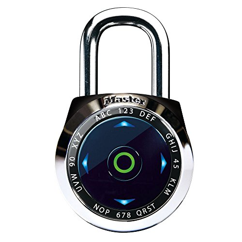 Master Lock 1500eXD 4 Pack 2-1/16in. Dial Speed Combination Digital Padlock, Black or White by Master Lock