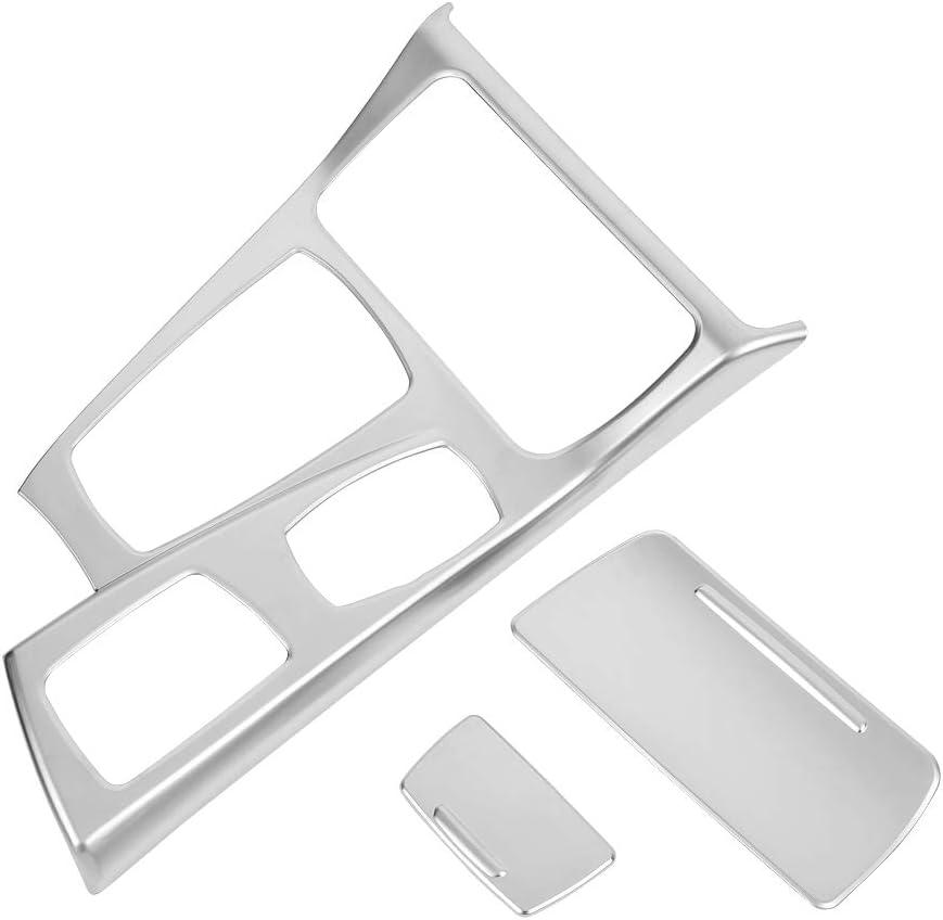 Galvanoplastia de cromo # 1 ABS Car Interior Console Central Gear Shift Panel Cover Trim Sticker for 5 Series F10 2011-2016 KIMISS Gear Shift Panel Cover Frame