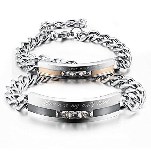 INBLUE Womens Stainless Bracelet Promise