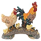 Design Toscano Chickens Bridging The Roost Garden Statue