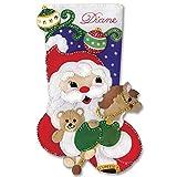 Christmas stocking kit ''Santa with Toys''