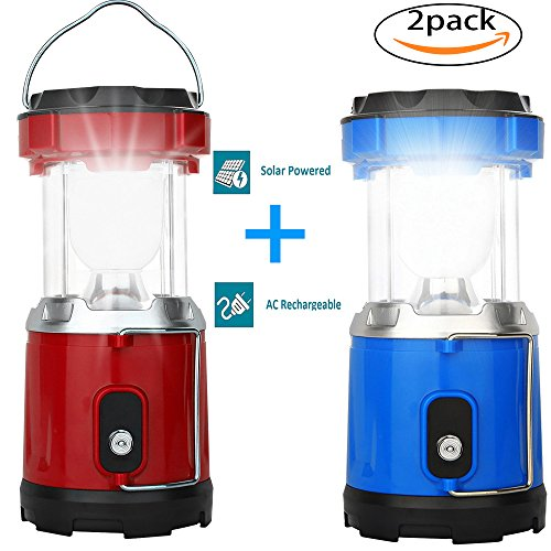 LED Camping Lantern-2 Pack Solar Camping Lantern for Swiftrans Ultra Bright Flashlights Portable Collapsible Camping Equipment for Survival, Emergence, Outdoor Hiking, Hurricanes, Storms, Outages by KAPPER